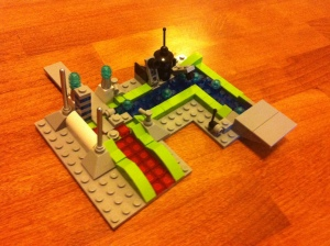 A tiny, futuristic manufacturing plant. Photo taken by author